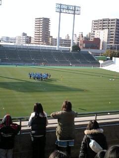 サッカー日本代表キンチョースタジアムで練習